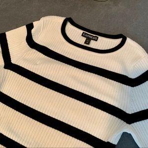• express 3/4 sleeve sweater •